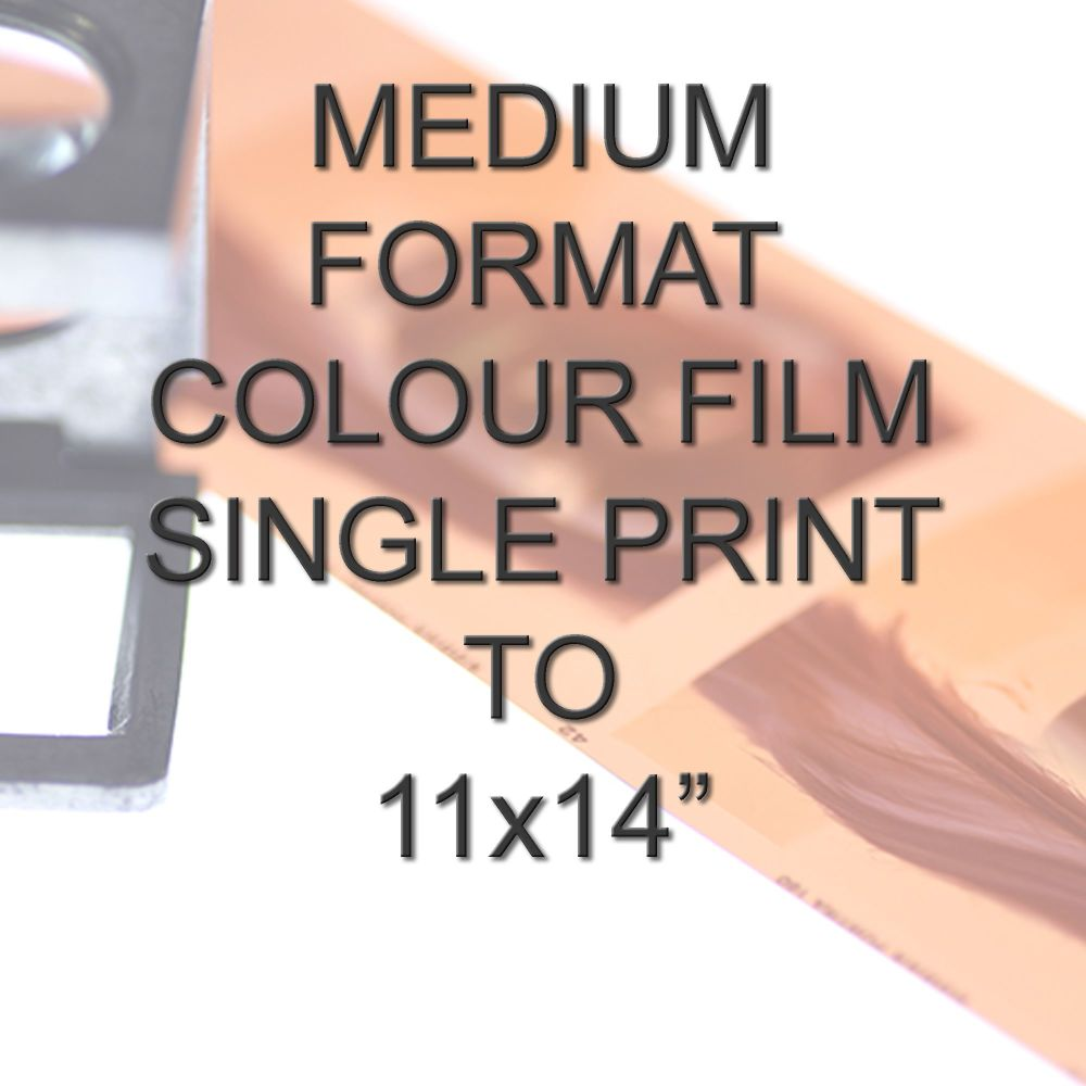 MEDIUM FORMAT COLOUR SINGLE PRINT 11X14