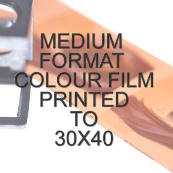 MEDIUM FORMAT COLOUR SINGLE PRINT 30x40