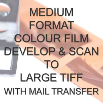 MEDIUM FORMAT COLOUR DEVELOP  AND SCAN LARGE TIFFS  WITH ELECTRONIC SEND