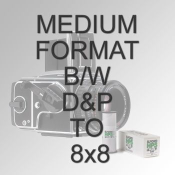 MEDIUM FORMAT B/W D&P TO 8X8