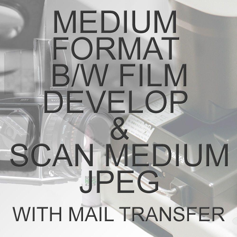 MEDIUM FORMAT B/W PROCESS  & SCAN TO MEDIUM JPEG WITH ELECTRONIC SEND