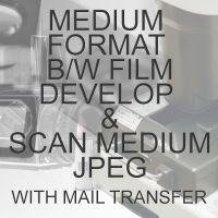 MEDIUM FORMAT B/W PROCESS  & SCAN TO MEDIUM JPEG WITH ELECTRONIC SEND
