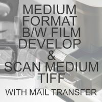 MEDIUM FORMAT B/W PROCESS  & SCAN TO MEDIUM TIFF  WITH ELECTRONIC TRANSFER