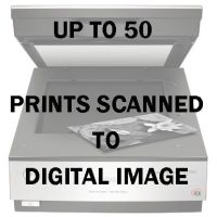 UP TO 50 PRINTS SCANNED TO DIGITAL IMAGE