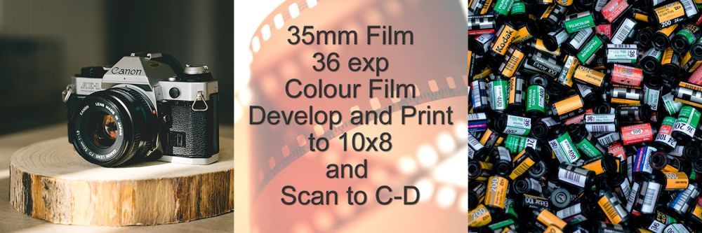 """36 EXP D&P TO 10X8"""" COLOUR AND SCAN TO DIGITAL"""
