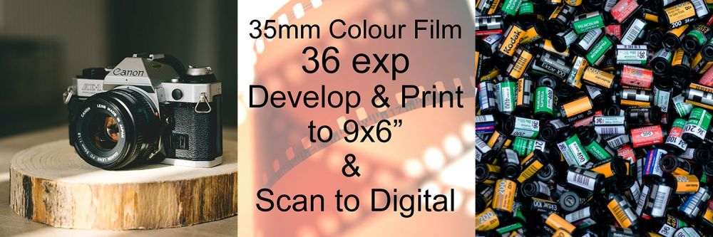 """36 EXP D&P TO 9X6"""" COLOUR AND SCAN TO DIGITAL"""