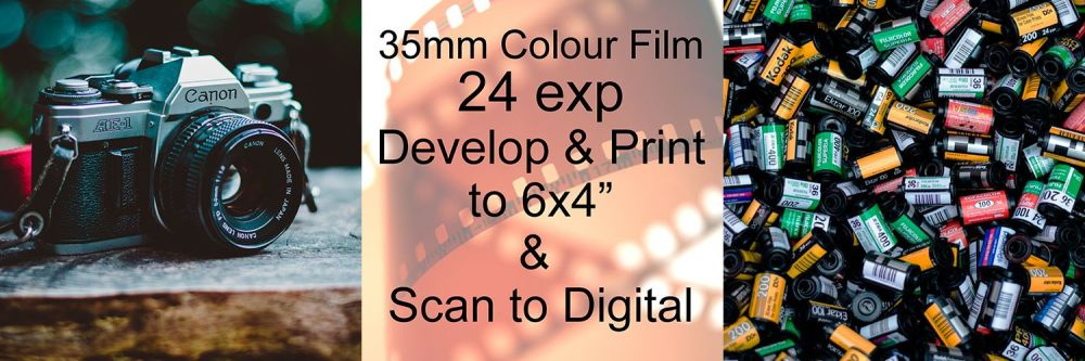 """24 EXP D&P TO 6X4"""" COLOUR AND SCAN TO DIGITAL"""
