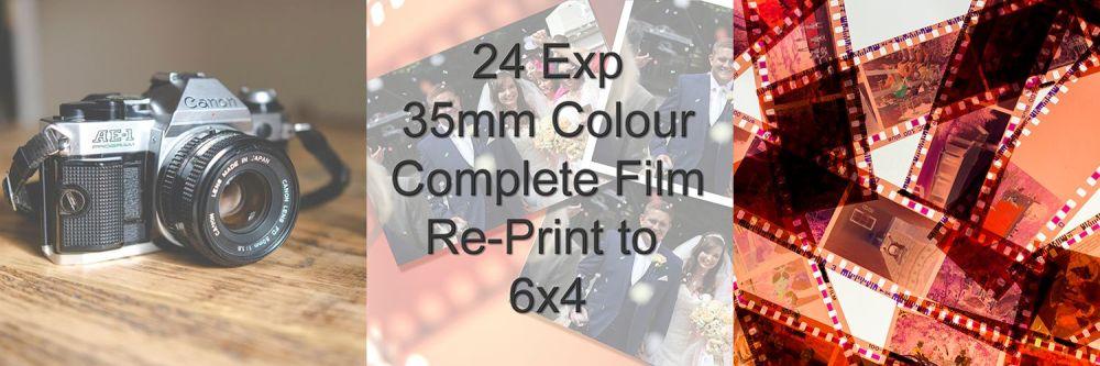 "COMPLETE FILM RE-PRINT TO 6X4"" 24 EXPOSURE"