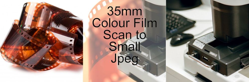 35mm COLOUR FILM PROCESS AND SCAN TO SMALL JEPG