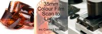 35mm COLOUR FILM PROCESS AND LARGE TIFF SCAN INC 10X8 CONTACT SHEET