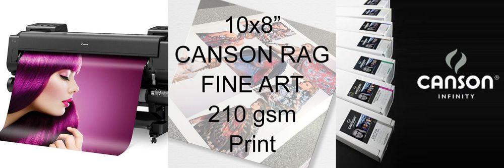"10x8"" Canson Rag Fine Art Print 210 gsm"