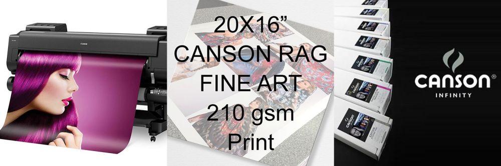 "20x16"" Canson Rag Fine Art Print 210 gsm"