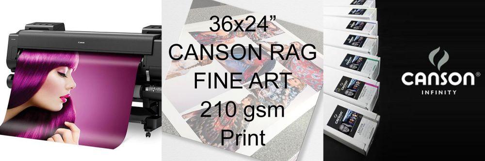 "36x24"" Canson Rag Fine Art Print 210 gsm"