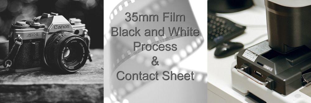 35mm BLACK & WHITE FILM DEVELOP & CONTACT