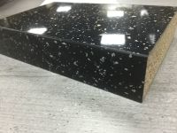 Bushboard Omega S033 Strass Noir- 4.1mtr x 38mm Square Edged Worktop