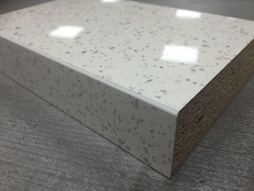 Bushboard Omega S030 Strass Blanc 3mtr X38mm Square Edged