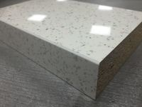 Bushboard Omega S030 Strass Blanc- 4.1mtr x 38mm Square Edged Worktop
