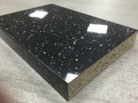 Bushboard Omega F074 Black Quartz- 4.1mtr 22mm Slimline Square Edged Worktop