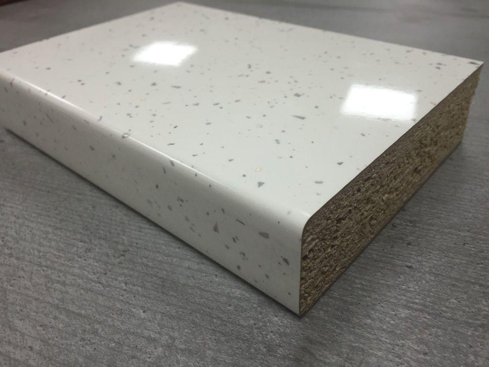 Bushboard Omega F075 White Quartz 3mtr Breakfast Bar