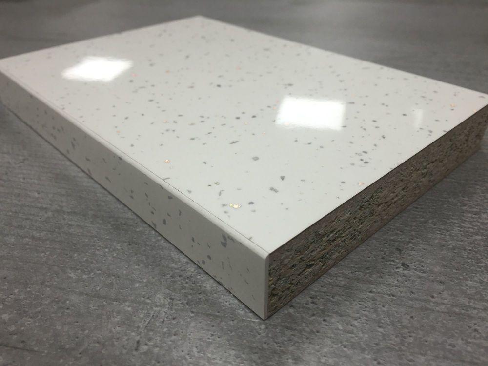 Bushboard Omega F075 White Quartz 4 1mtr 22mm Slimline