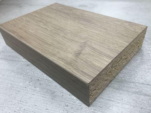 Bushboard Omega C132 Tobacco Oak - 3mtr Square Edge Curved Kitchen Breakfas