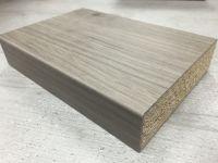 Bushboard Omega C165 Graphite Oak - 4.1mtr Square Edge Curved Kitchen Worktop