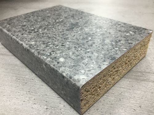 Bushboard Omega S105 Pewter Pebblestone - 4.1mtr Breakfast Bar