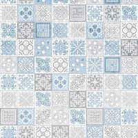 Showerwall SW075 Victorian Blue - 2.4mtr Square Edged Wall Panel