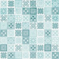 Showerwall SW077 Victorian Turquoise - 2.4mtr Square Edged Wall Panel