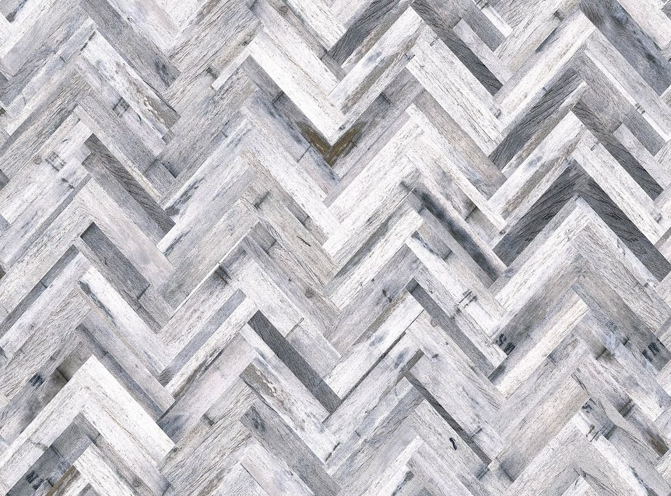 Herringbone Whitewash- Shell