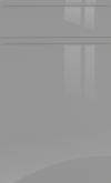 Dust Grey Gloss Handle-less Kitchen Doors / Drawer Fronts