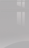 Light Grey Gloss Handle-less Kitchen Doors / Drawer Fronts