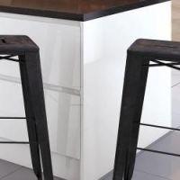 Light Grey Supermatt Handle-less  2400x650 Square End Panel 18mm