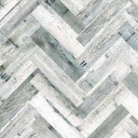 Bushboard Alloy Herringbone Whitewash 600mm Hob Panel