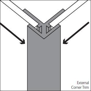 Bushboard Alloy 600mm Silver External Corner Trim