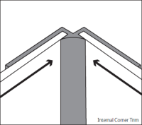 Bushboard Alloy  Internal Corner Trim