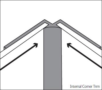 Bushboard Alloy 600mm Silver Internal Corner Trim