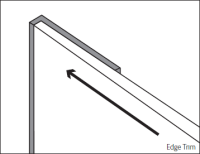 Bushboard Alloy Short Edge Profile Trim