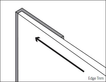 Bushboard Alloy 600mm Silver Edge Profile Trim