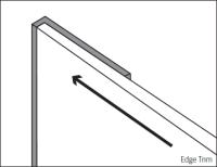 Bushboard Alloy Long Edge Profile Trim