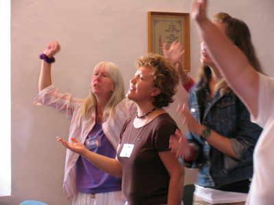 Worship hands raised 2
