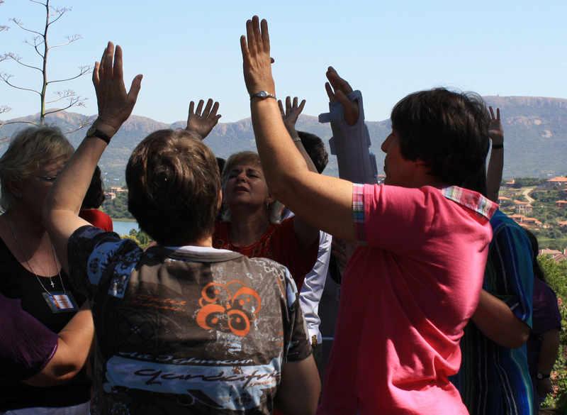 Intercession hands raised to God