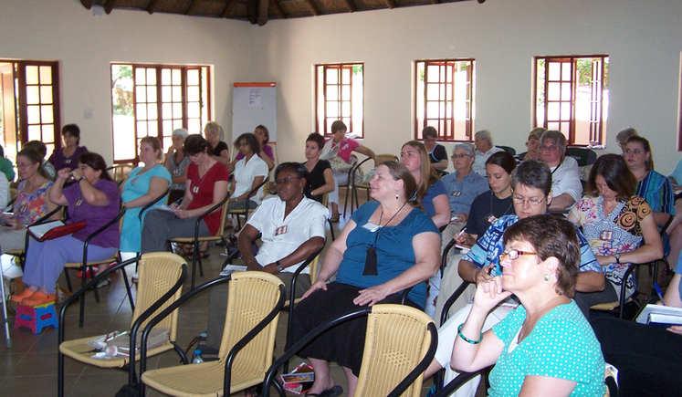 Teaching Group listening to teaching