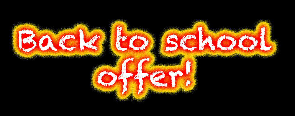 Back 2 school offer