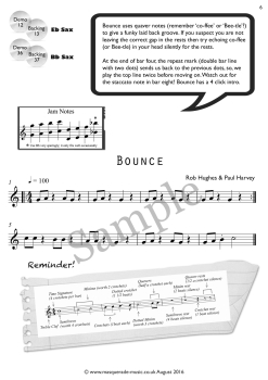 Bounce sax sample page