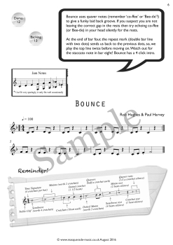 Bounce clarinet sample page