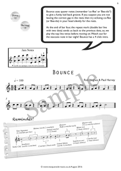 bounce flute sample page