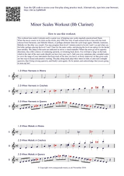 Minor Scales workout! Bb Clarinet final