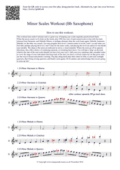Minor Scales workout! Bb Saxophone final