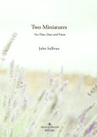 Two Miniatures for 2 Flutes & Piano (optional Piccolos) Printed/posted edition